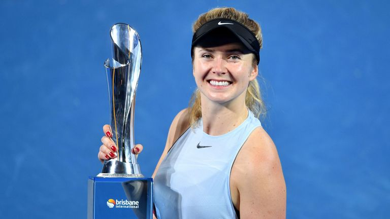 Elina Svitolina was victorious at the Brisbane International