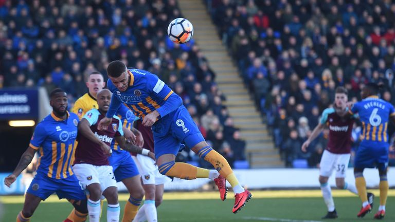 Shrewsbury produced a resilient defensive display as West Ham drew a blank
