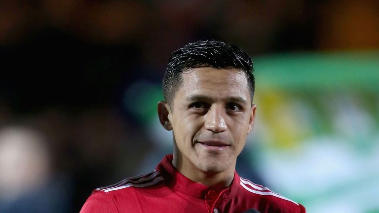 Sanchez moved to United on a free transfer from Arsenal