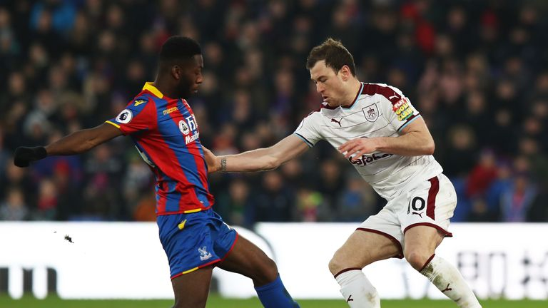 Ashley Barnes was restricted to half-chances in the defeat to Crystal Palace