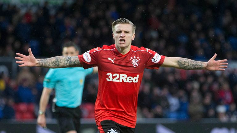 Rangers Jason Cummings scored his first goal for the club