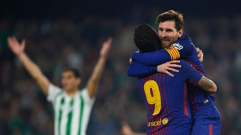 Lionel Messi scored twice against Real Betis
