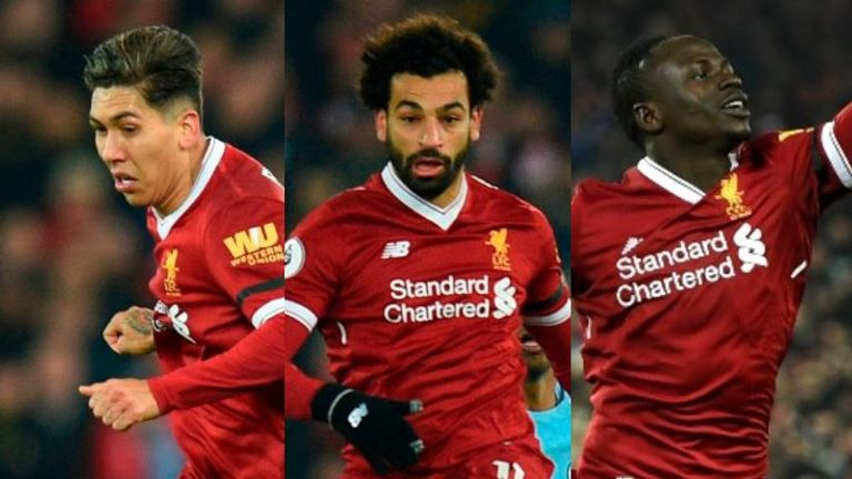 Liverpool's front three scored 91 goals between them last season