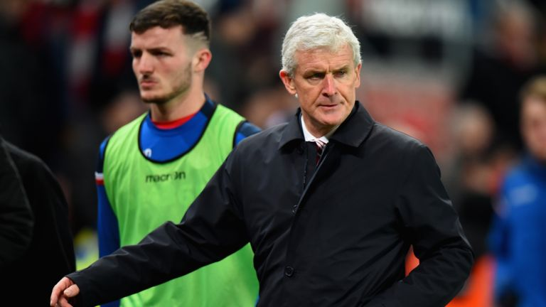 Mark Hughes' future as Stoke manager is being considered by the club's board, according to Sky sources