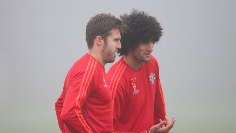 Marouane Fellaini and Michael Carrick are out of contract at the end of this season