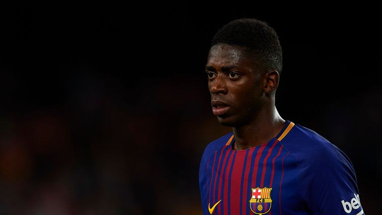 Ousmane Dembele suffered a hamstring injury on his debut in September which kept him out of action until January
