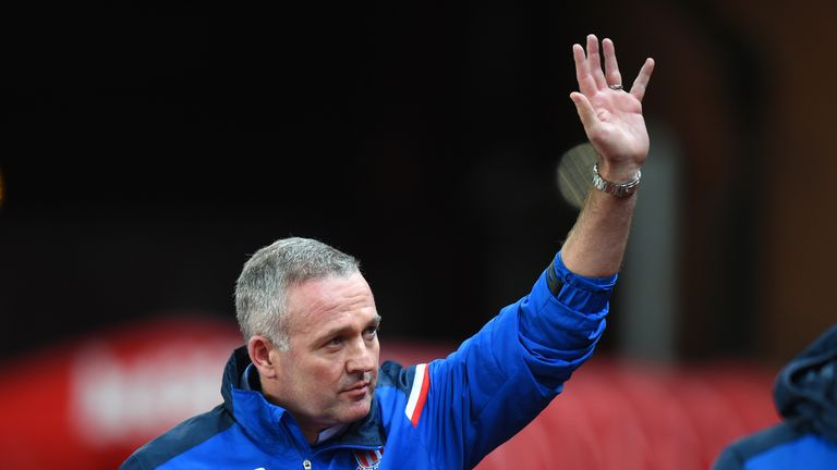 Paul Lambert has the task of trying to keep Stoke in the Premier League