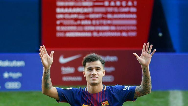 Philippe Coutinho moved to Barcelona over the weekend