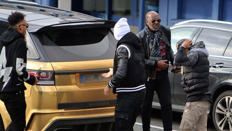 Aubameyang pictured at Dortmund airport on Tuesday afternoon. Credit: Florian Groeger @RN_Florian