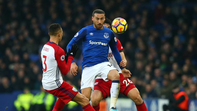 Cenk Tosun has yet to score since joining Everton in January