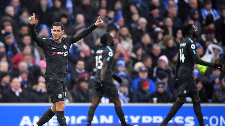 Eden Hazard produced a dazzling display against Brighton