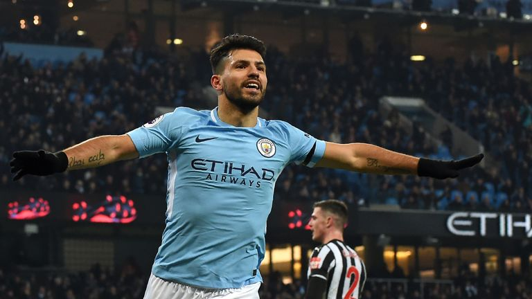 Sergio Aguero has scored over 20 goals in each of the past four seasons