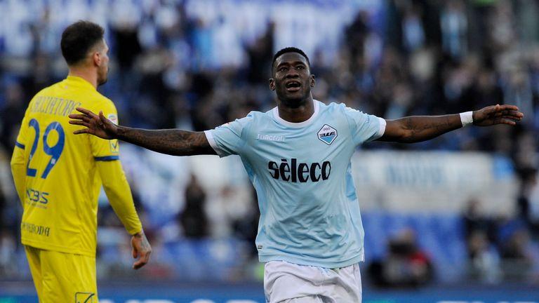 Quissanga Bastos scores Lazio's fourth goal of the game