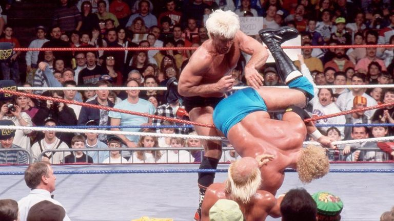 Flair put in a marathon 60-minute performance in the 1992 Rumble