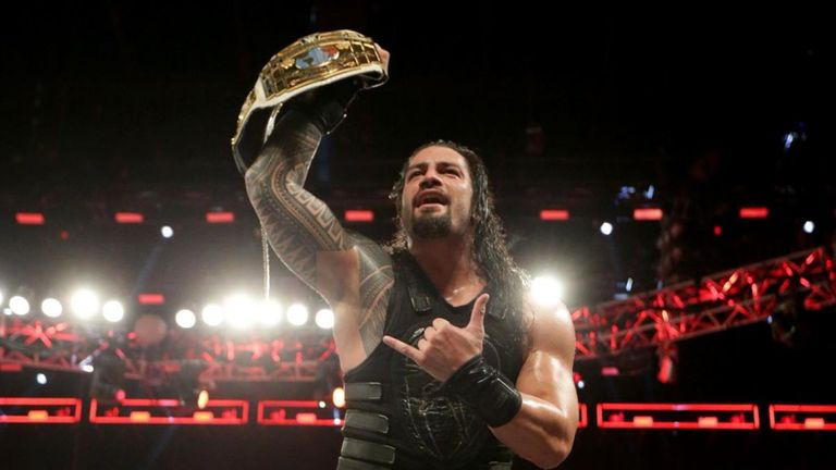Roman Reigns successfully defended his Intercontinental title against Samoa Joe