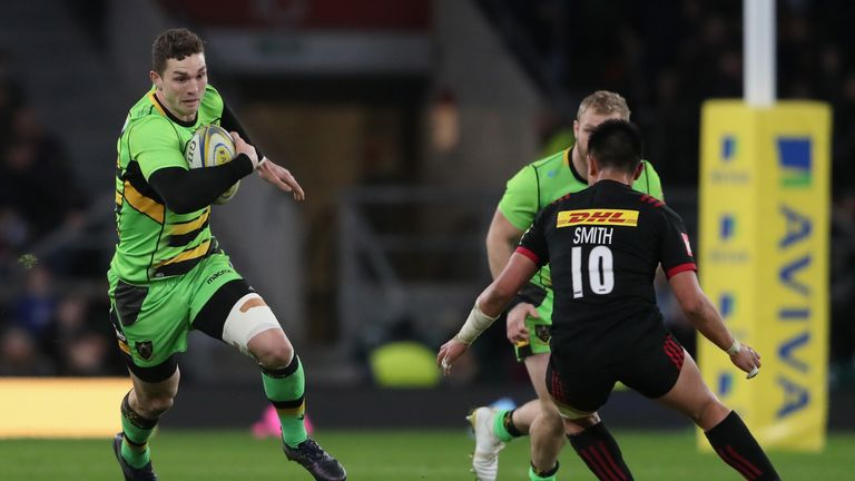 Northampton wing George North is available for Wales' Six Nations campaign after recovering from a knee injury