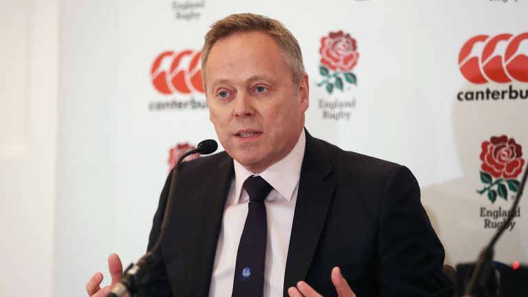 England Rugby Football Union CEO Steve Brown