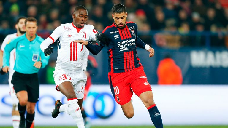 Boubakary Soumare (left) in action for Lille
