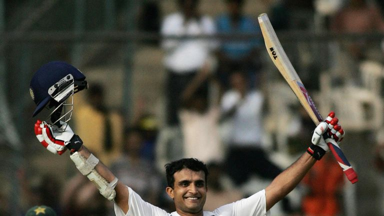 Sourav Ganguly scored a double century in the last India-Pakistan Test, in 2007