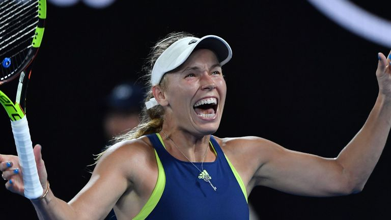 Wozniacki finally lifted her first Grand Slam title at the 43rd attempt