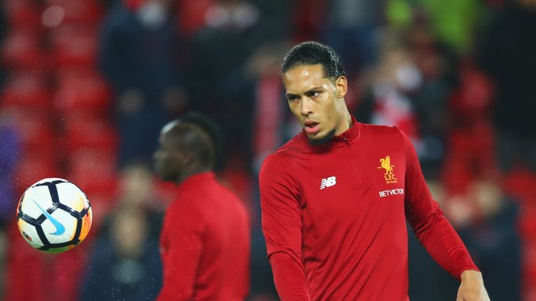 Virgil van Dijk was ruled out of Liverpool's game with Manchester City due to a tight hamstring