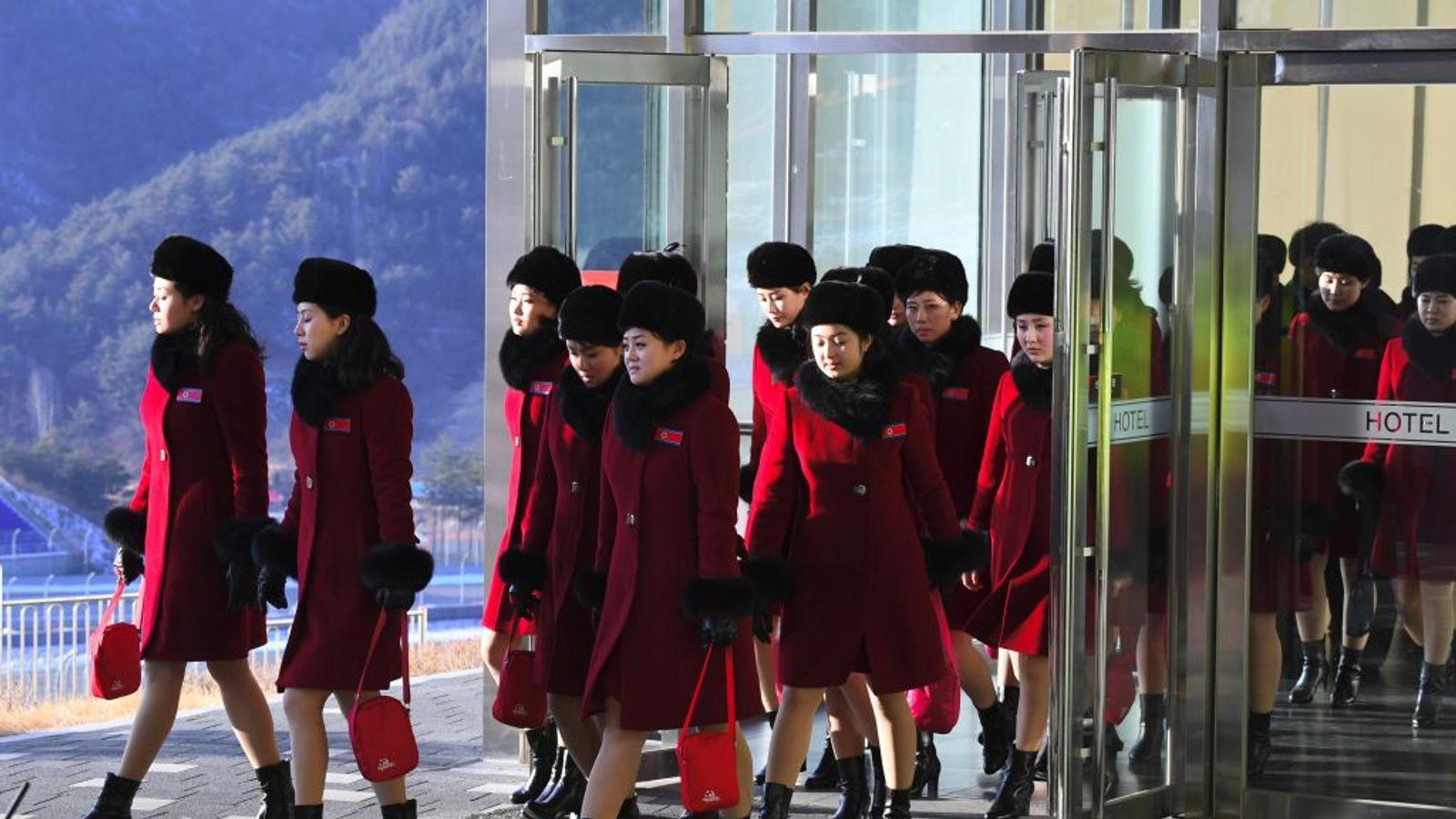 Winter Olympics: 229-strong North Korea cheerleading sqaud