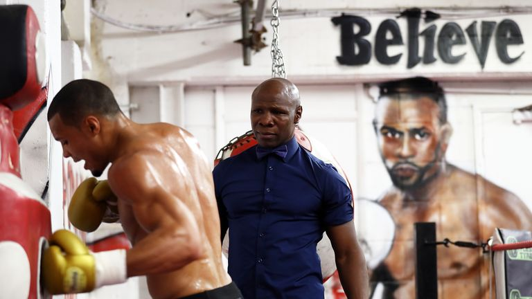 Eubank Jr had his father in his corner when he faced Saunders