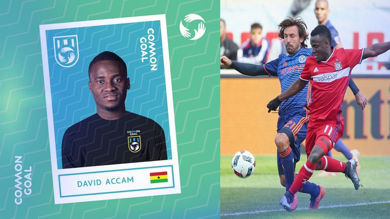 MLS star Accam became the first male African player to join Common Goal