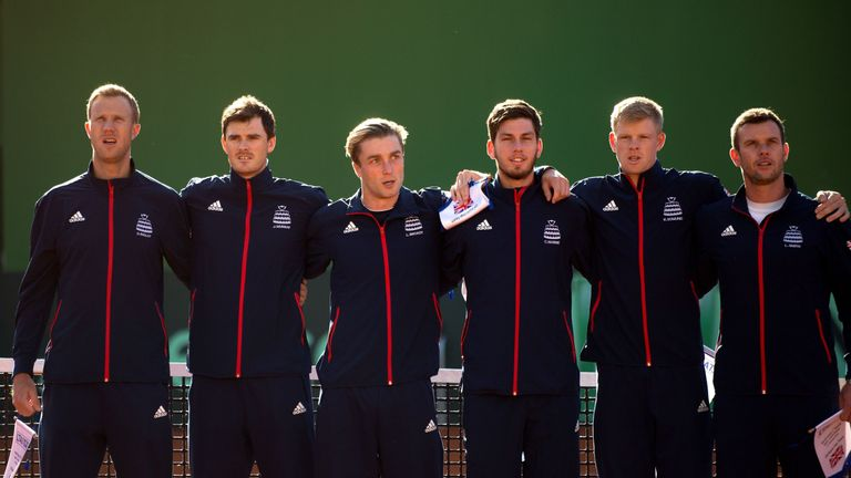 Great Britain will bid to retain their five-year stay at the Davis Cup top level against Uzbekistan