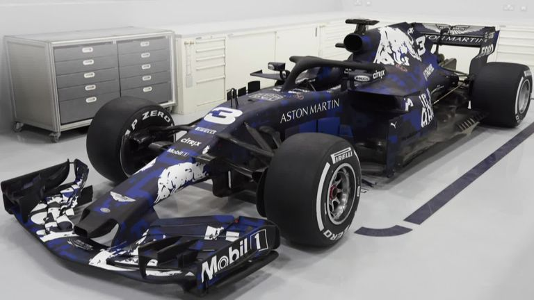 Red Bull unveil first Honda-powered auto  in one-off livery