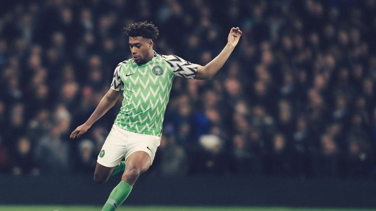 Alex Iwobi likes Nigeria's new home kit