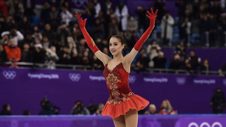 Alina Zagitova followed her short programme world record 82.92 with 156.65 points in the free dance