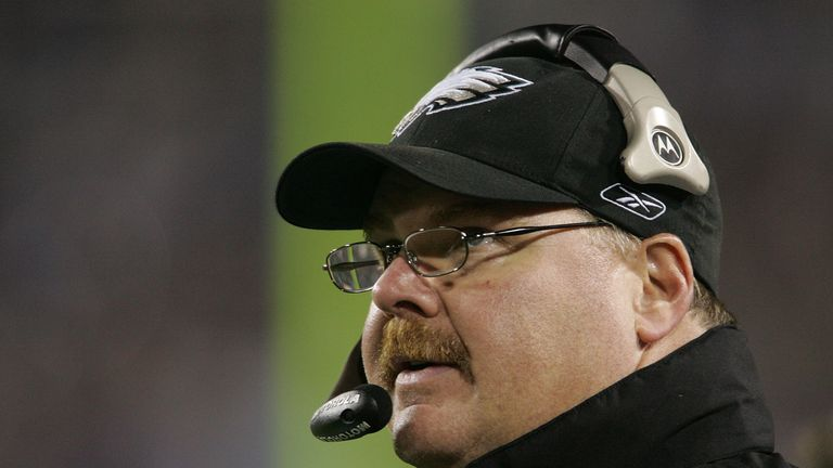 Andy Reid's Eagles were defeated by the Patriots in 2005 in Super Bowl XXXIX.