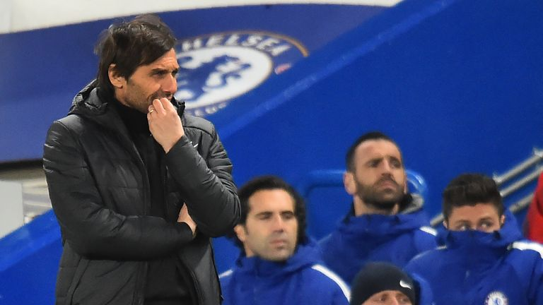 Antonio Conte has faced questions over his future at Chelsea