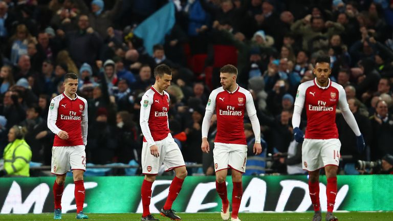 Arsenal were lambasted for their lack of character at Wembley