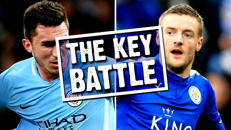 Aymeric Laporte could have to cope with the pace of Jamie Vardy on Saturday