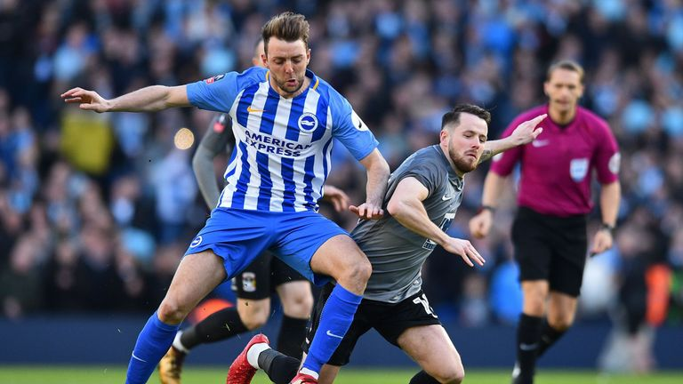 Influential midfielder Dale Stephens is rated as doubtful for Brighton