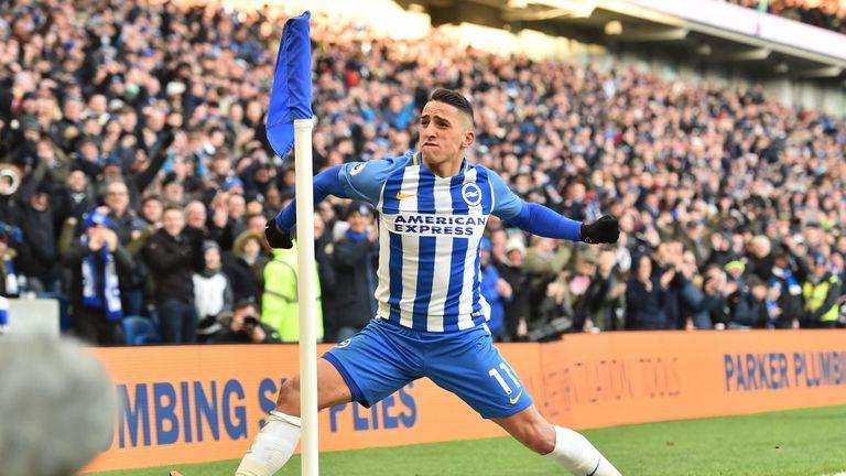 Brighton's Anthony Knockaert scored Brighton's third