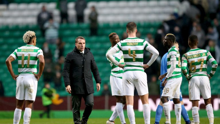 Celtic manager Brendan Rodgers and his team were held by St Johnstone