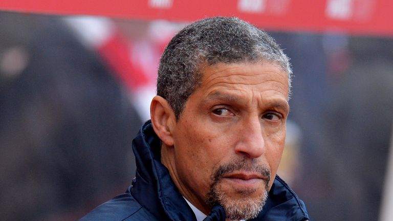Chris Hughton has warned his Brighton players to expect a tough game at City
