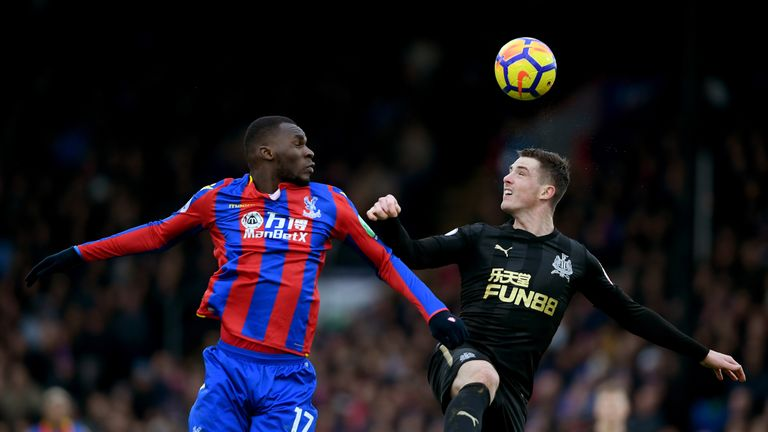 Christian Benteke and Ciaran Clark were involved in the penalty incident 094a5691a