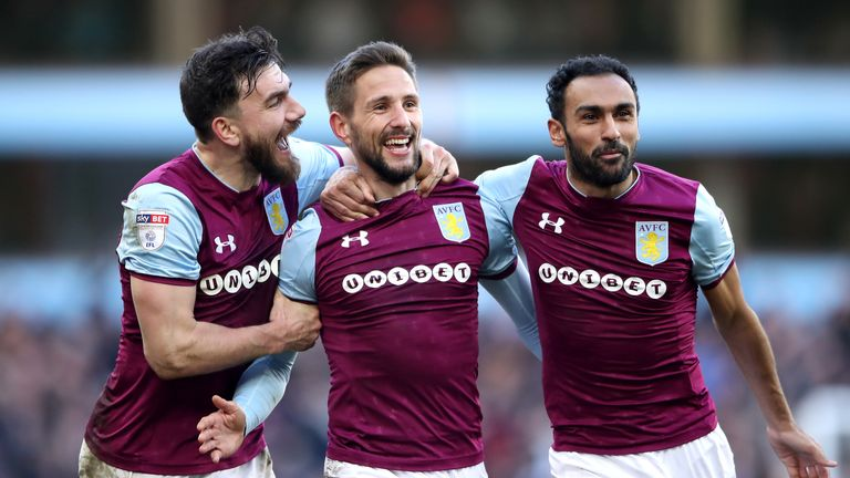 Aston Villa will be in action in the Sky Bet Championship