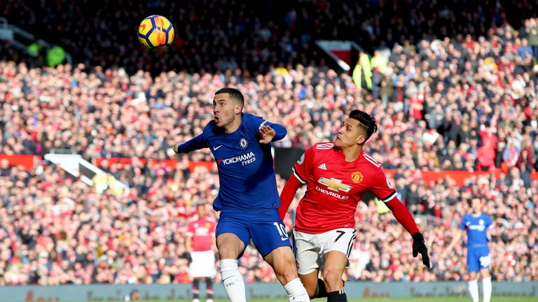 Eden Hazard and Chelsea were beaten at Manchester United last time out