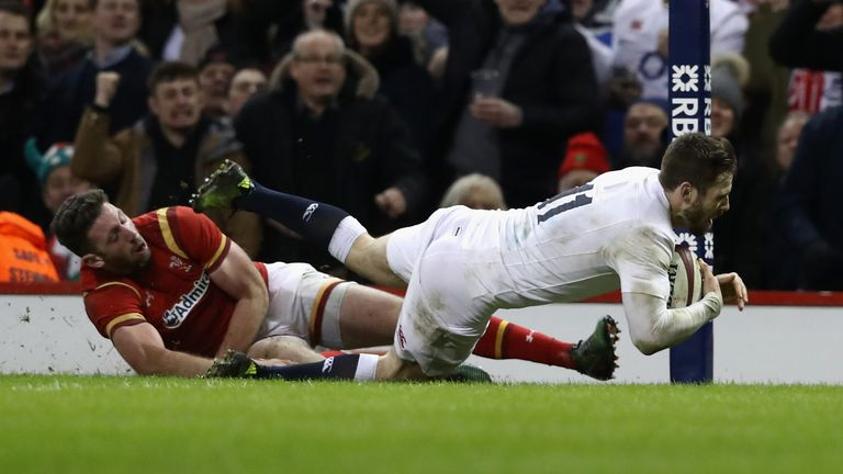Elliot Daly scored the match-winning try against Wales in 2017
