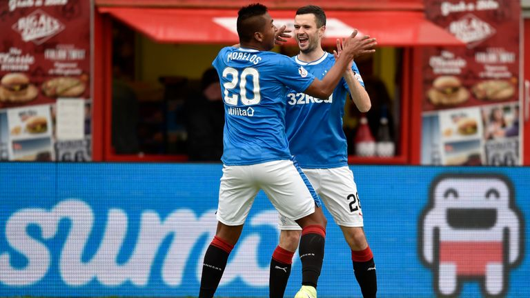 Morelos is the Scottish Premiership's top scorer with 12 goals so far this season