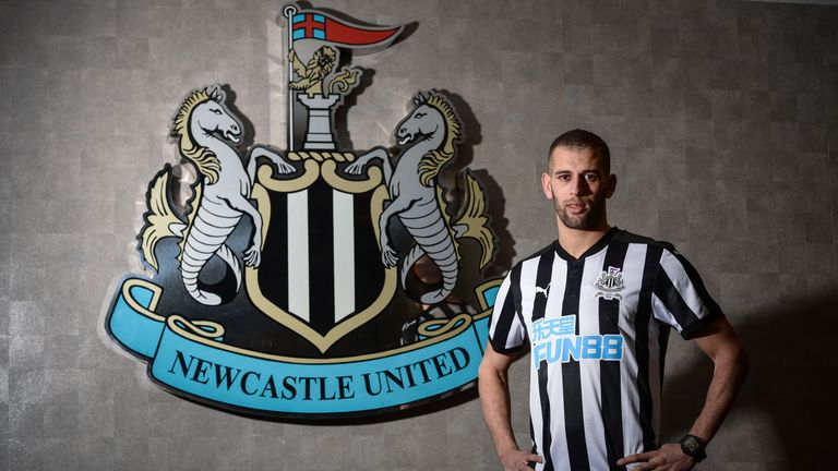Islam Slimani has joined Newcastle on loan from Leicester City