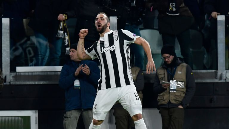 Gonzalo Higuain is fit to lead the line for Juventus
