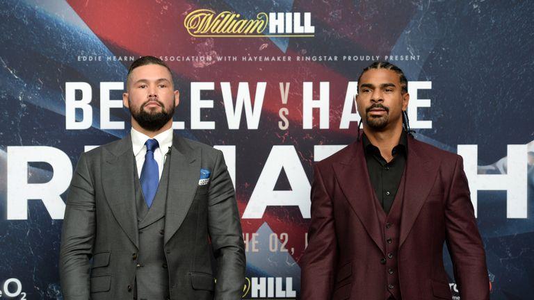Bellew and Haye will headline the Sky Sports Box Office bill