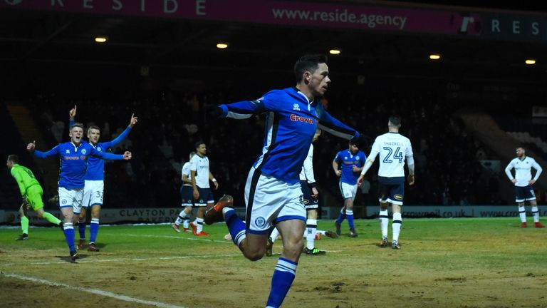 Ian Henderson scored the only goal of the game as Rochdale beat Millwall