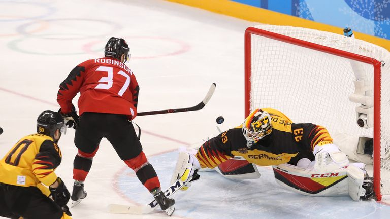 Mat Robinson sparked Canada's third-period fightback but they fell short
